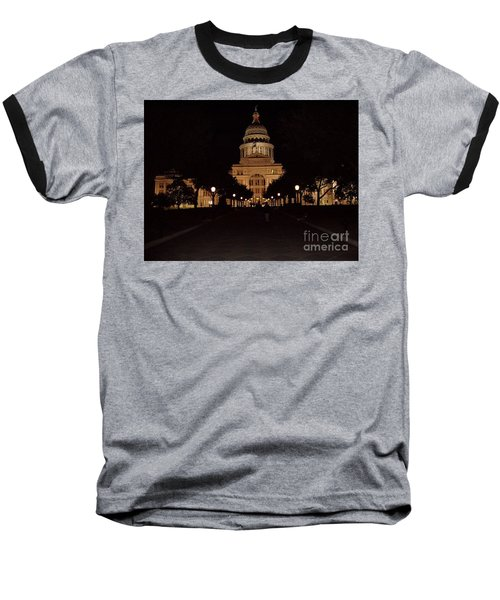 Baseball T-Shirt featuring the photograph Texas State Capital by John Telfer