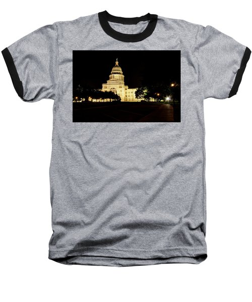 Texas State Capitol Baseball T-Shirt by Dave Files