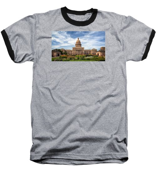 Texas State Capitol II Baseball T-Shirt by Joan Carroll