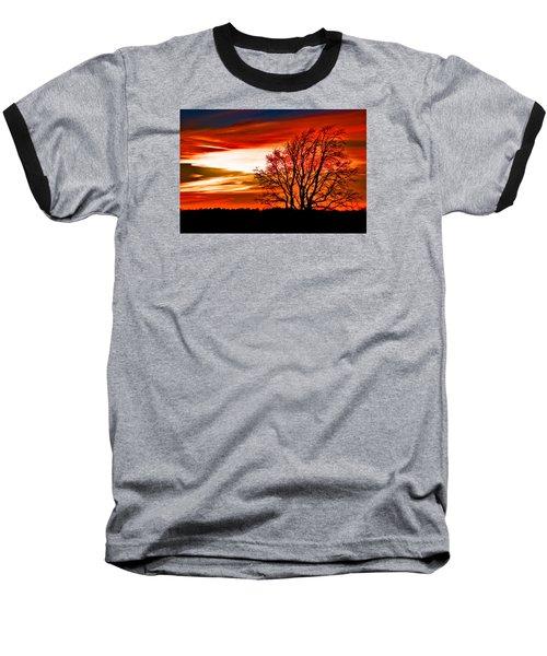 Texas Sunset Baseball T-Shirt by Darryl Dalton