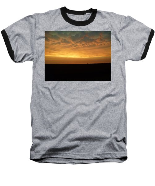 Baseball T-Shirt featuring the photograph Texas Sunset by Ed Sweeney