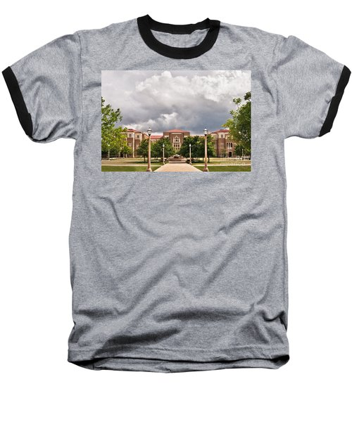 Baseball T-Shirt featuring the photograph School Of Education by Mae Wertz