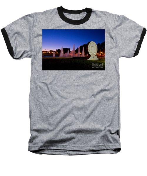 Baseball T-Shirt featuring the photograph Texas Tech University Seal And Blue Sky by Mae Wertz