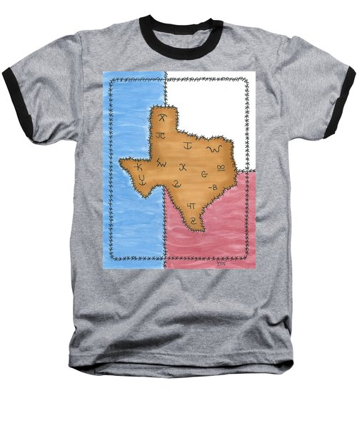 Texas Tried And True Red White And Blue Baseball T-Shirt by Susie WEBER