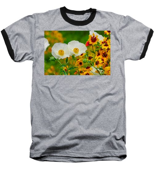 Texas Wildflowers Baseball T-Shirt by Lynn Bauer