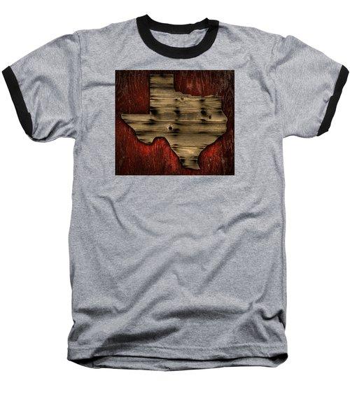 Texas Wood Baseball T-Shirt by Darryl Dalton