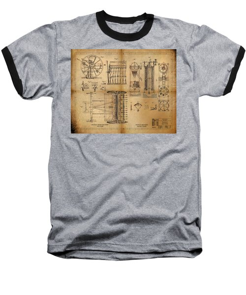 Baseball T-Shirt featuring the painting Textile Machine by James Christopher Hill