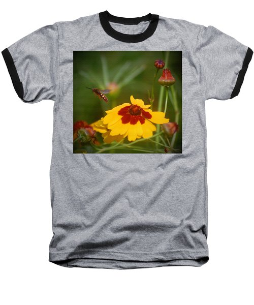 Baseball T-Shirt featuring the photograph Textured Bee by Leticia Latocki