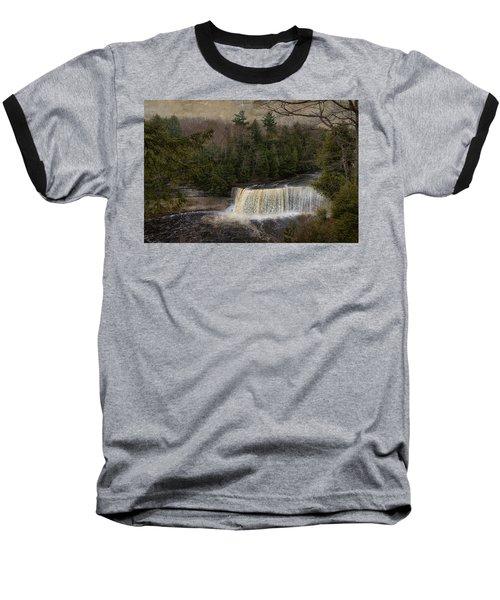 Textured Tahquamenon River Michigan Baseball T-Shirt