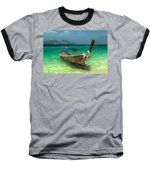 Thai Boat  Baseball T-Shirt by Adrian Evans