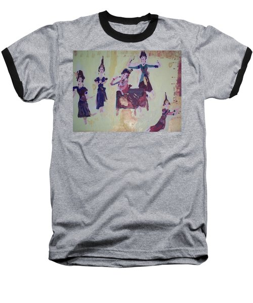 Thai Dance Baseball T-Shirt by Judith Desrosiers
