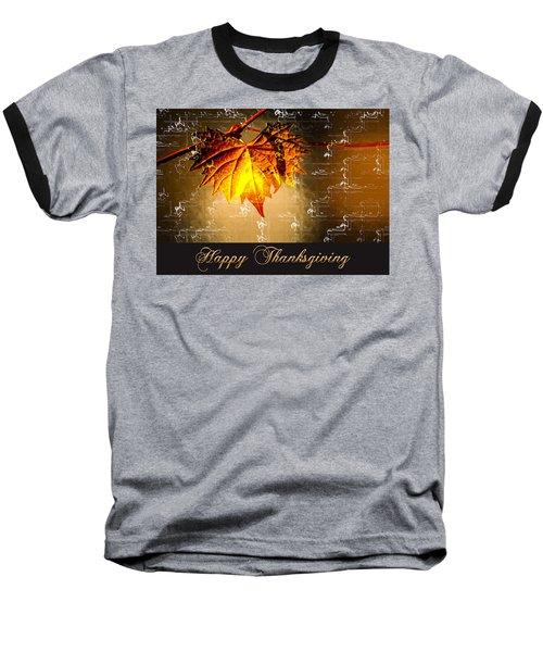 Thanksgiving Card Baseball T-Shirt
