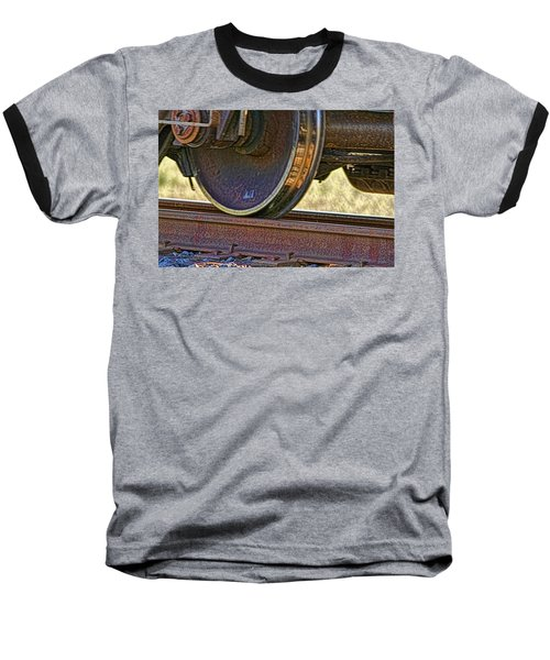 That Train Just Keeps A Rollin Baseball T-Shirt by Gary Holmes