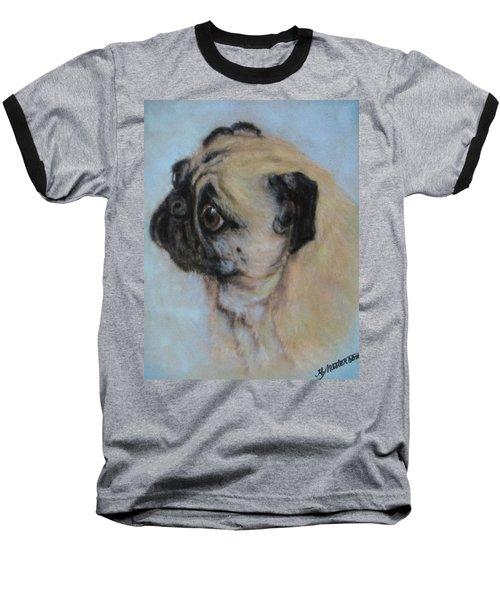 Pug's Worried Look Baseball T-Shirt