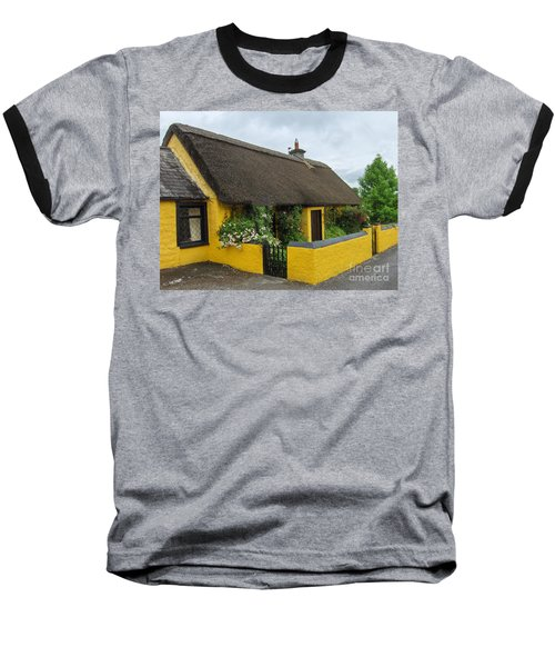 Thatched House Ireland Baseball T-Shirt by Brenda Brown