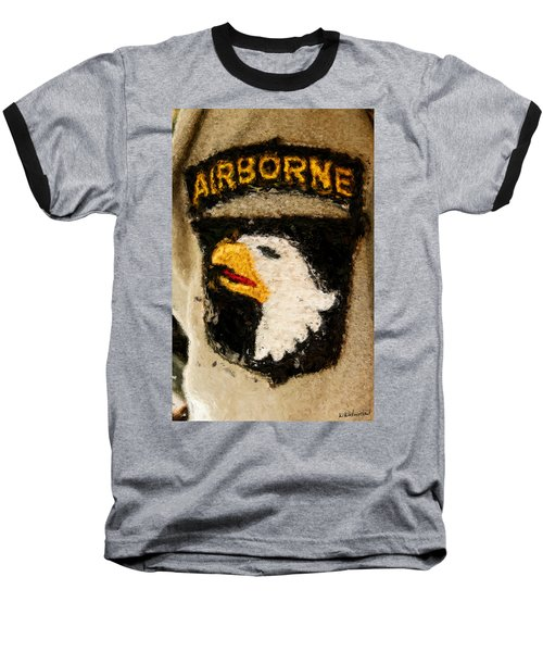 The 101st Airborne Emblem Painting Baseball T-Shirt