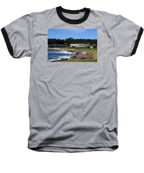 The 18th At Pebble Beach Baseball T-Shirt by Barbara Snyder