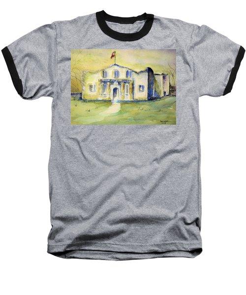Baseball T-Shirt featuring the painting The Alamo  by Bernadette Krupa