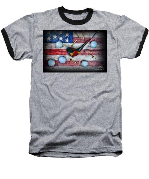 The All American Golfer Baseball T-Shirt by Paul Ward