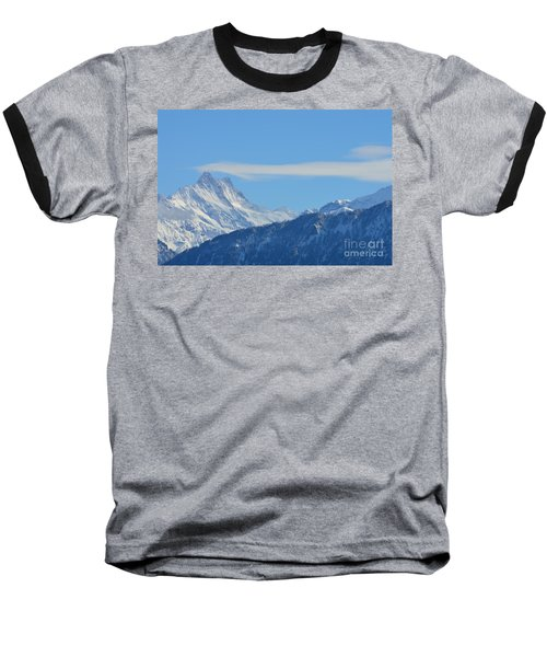 The Alps In Azure Baseball T-Shirt by Felicia Tica