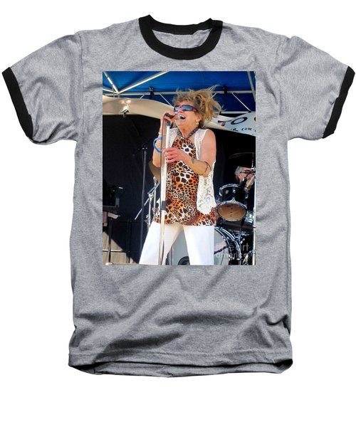 Baseball T-Shirt featuring the photograph The Amazing Lydia Pense by Fiona Kennard