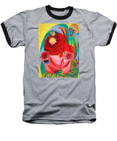 The Angel Of Roses Baseball T-Shirt