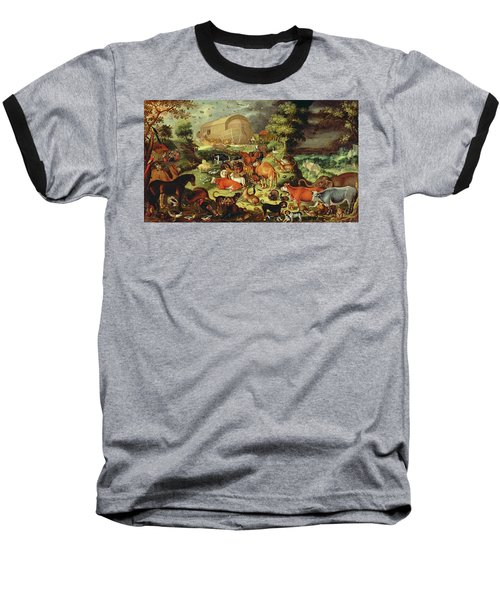 The Animals Entering The Ark Baseball T-Shirt by Jacob II Savery