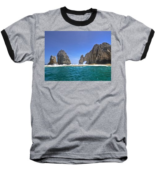 Baseball T-Shirt featuring the photograph The Arch  Cabo San Lucas On A Low Tide by Eti Reid