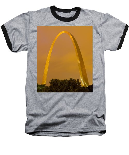 The Arch In The Glow Of St Louis City Lights At Night Baseball T-Shirt