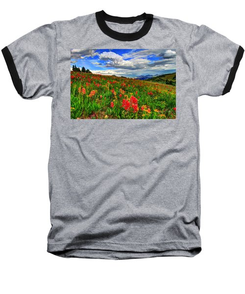 The Art Of Wildflowers Baseball T-Shirt