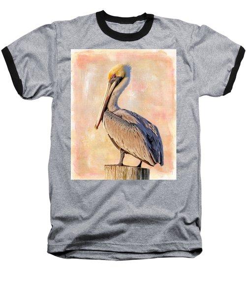 Birds - The Artful Pelican Baseball T-Shirt