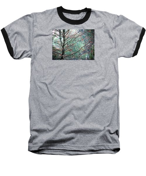 Baseball T-Shirt featuring the photograph The Aura Of Trees by Angela Davies