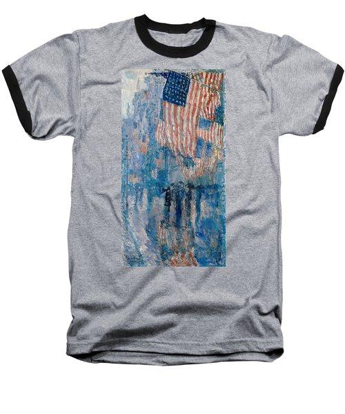 The Avenue In The Rain Baseball T-Shirt
