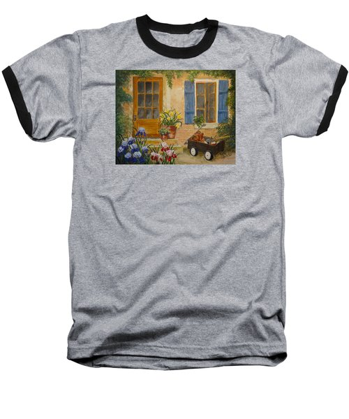 The Back Door Baseball T-Shirt by Marilyn Zalatan