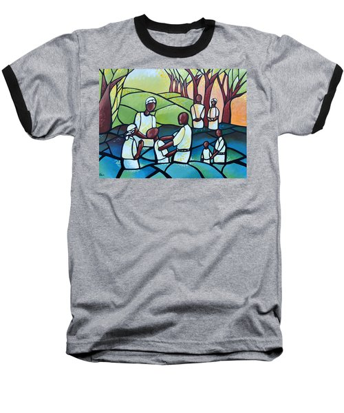 The Baptism Baseball T-Shirt by AC Williams