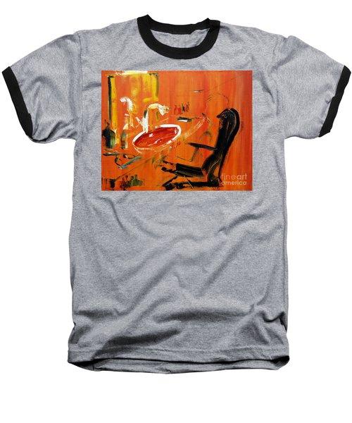 The Barbers Shop - 3 Baseball T-Shirt