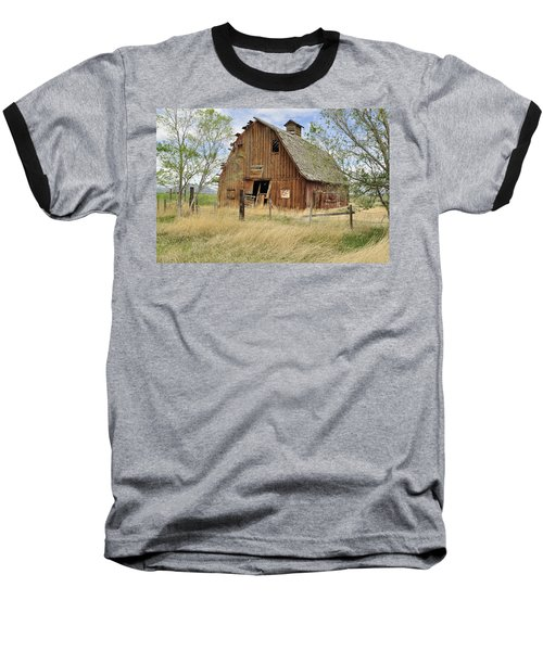 Baseball T-Shirt featuring the photograph the Barn  by Fran Riley