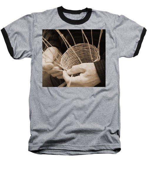 The Basket Weaver Baseball T-Shirt by Marcia Socolik
