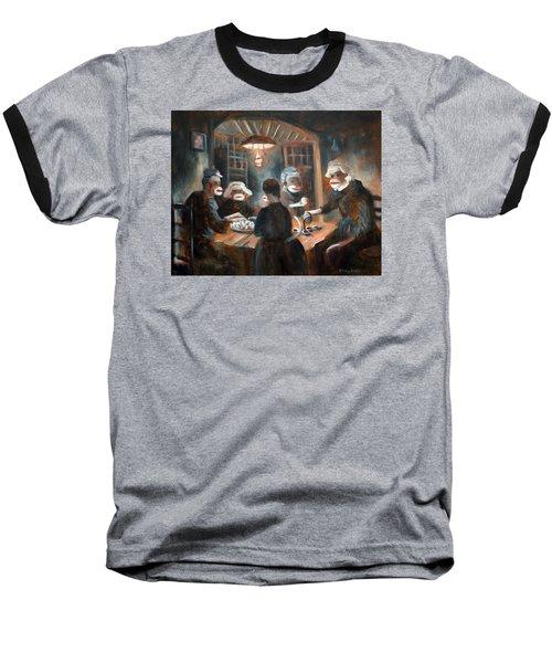 Baseball T-Shirt featuring the painting Tater Eatin by Randol Burns