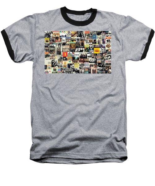 The Beatles Collage Baseball T-Shirt