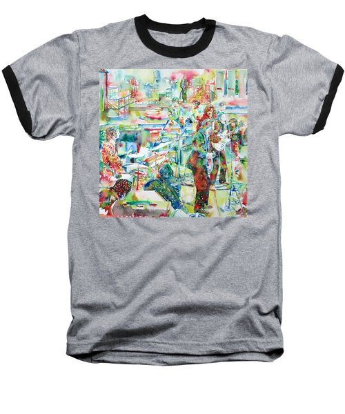 The Beatles Rooftop Concert - Watercolor Painting Baseball T-Shirt