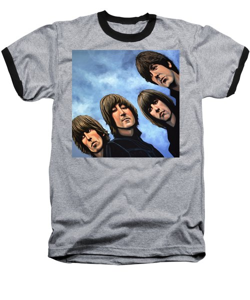 The Beatles Rubber Soul Baseball T-Shirt by Paul Meijering