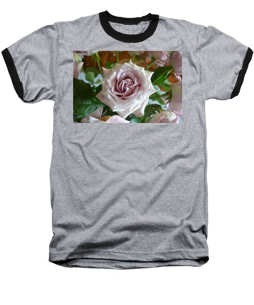 The Beauty Of A Flower Baseball T-Shirt by Jim Fitzpatrick