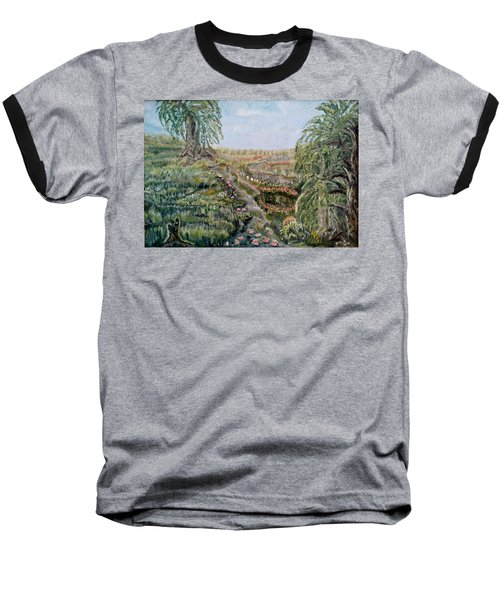 The Beauty Of A Marsh Baseball T-Shirt by Felicia Tica