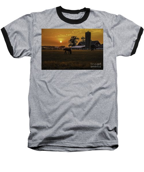 The Beauty Of A Rural Sunset Baseball T-Shirt by Mary Carol Story