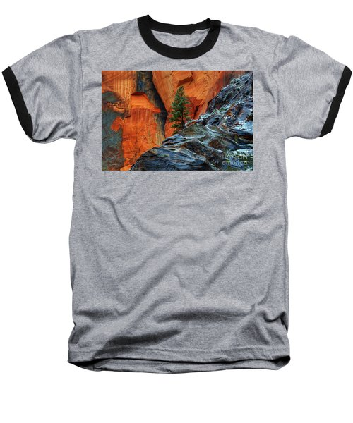 The Beauty Of Sandstone Zion Baseball T-Shirt by Bob Christopher