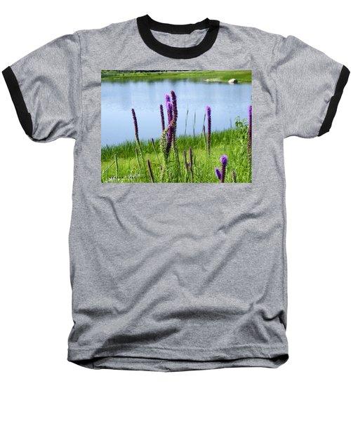 Baseball T-Shirt featuring the photograph The Beauty Of The Liatris by Verana Stark