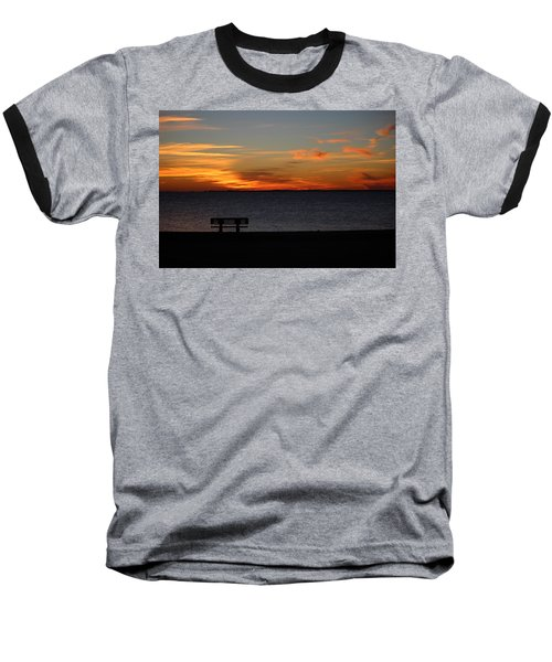 Baseball T-Shirt featuring the photograph The Bench by Faith Williams