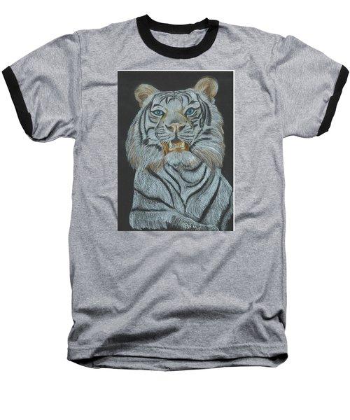 Baseball T-Shirt featuring the pastel The Bengal by Carol Wisniewski