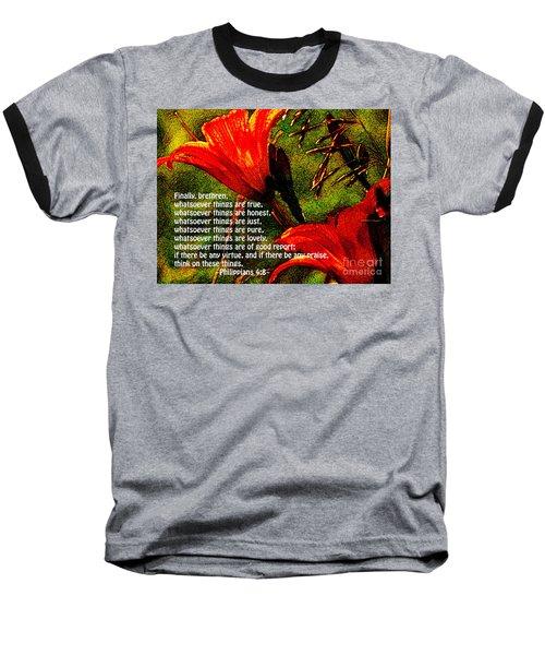 The Bible Philippians 4 Baseball T-Shirt